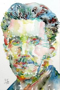 george-orwell-watercolor-portrait-fabrizio-cassetta