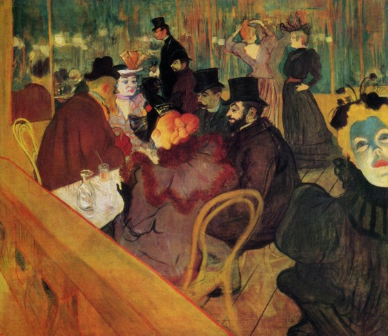 Toulouse-Lautrec, At Moulin Rouge 1892.jpg