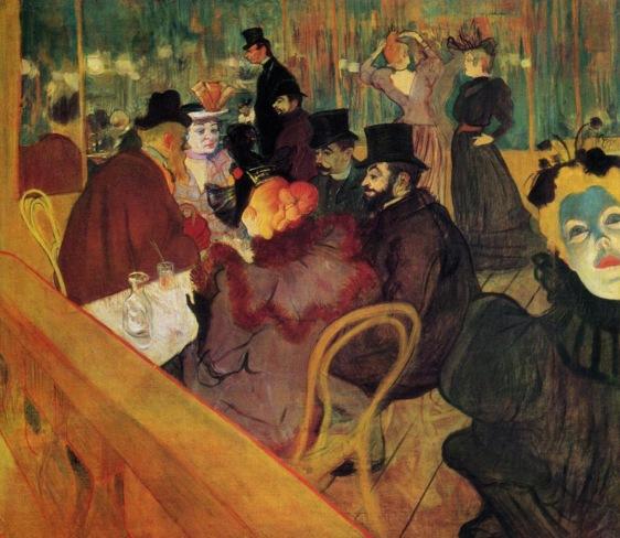 Toulouse-Lautrec, At Moulin Rouge 1892.jpg